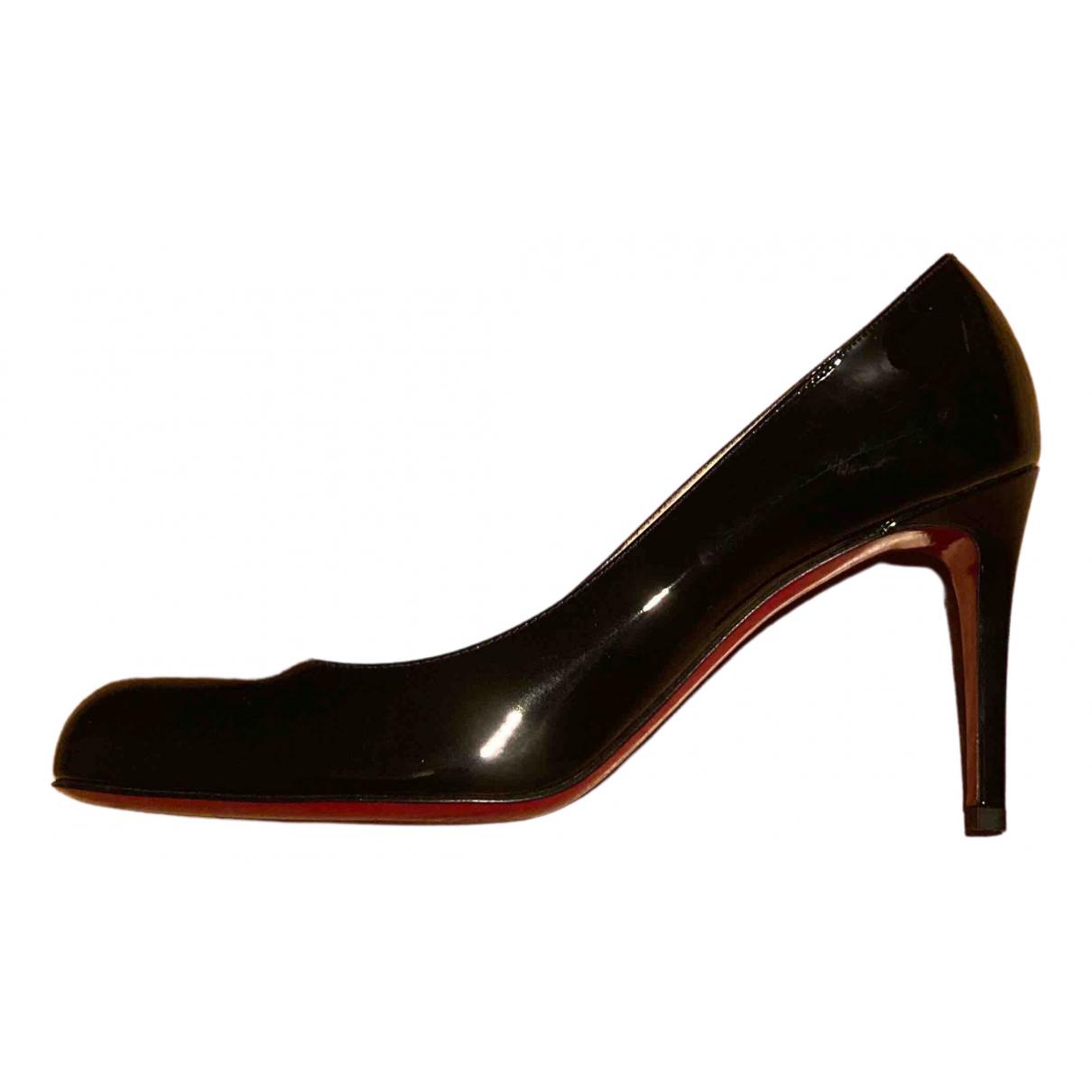 Christian Louboutin - Escarpins Simple pump pour femme en cuir verni - noir
