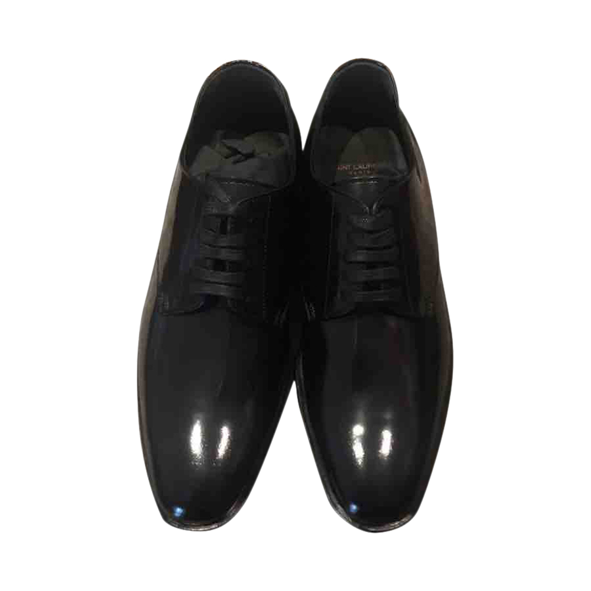 Saint Laurent \N Black Leather Lace ups for Women 37.5 EU