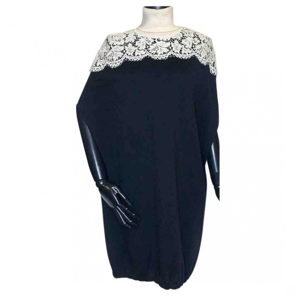 Valentino Garavani \N Black Wool dress for Women 42 IT