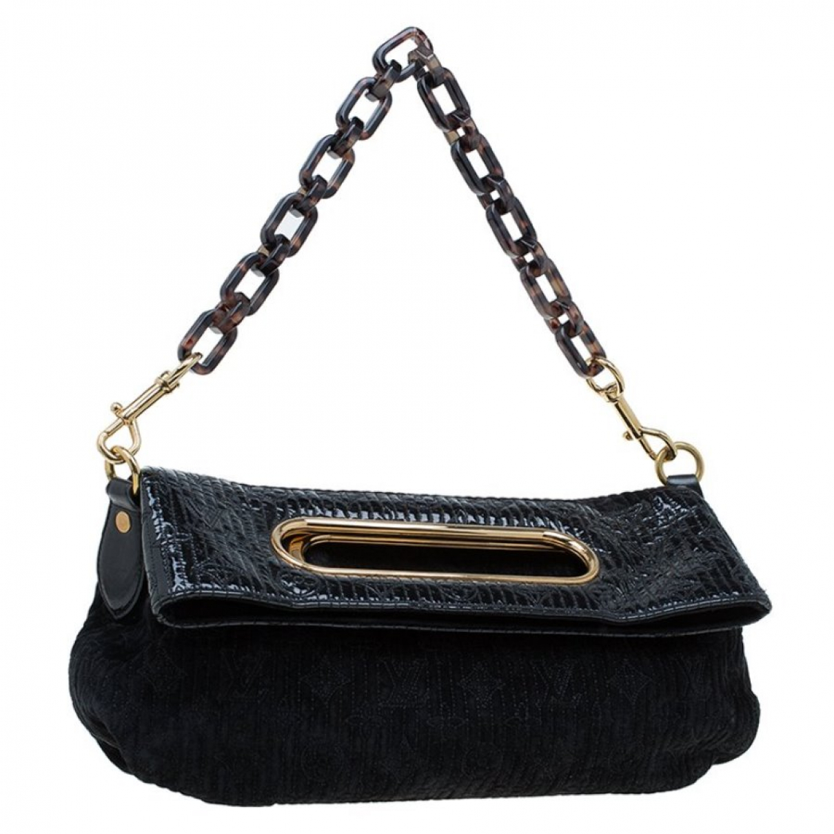 Louis Vuitton \N Clutch in  Schwarz Leder