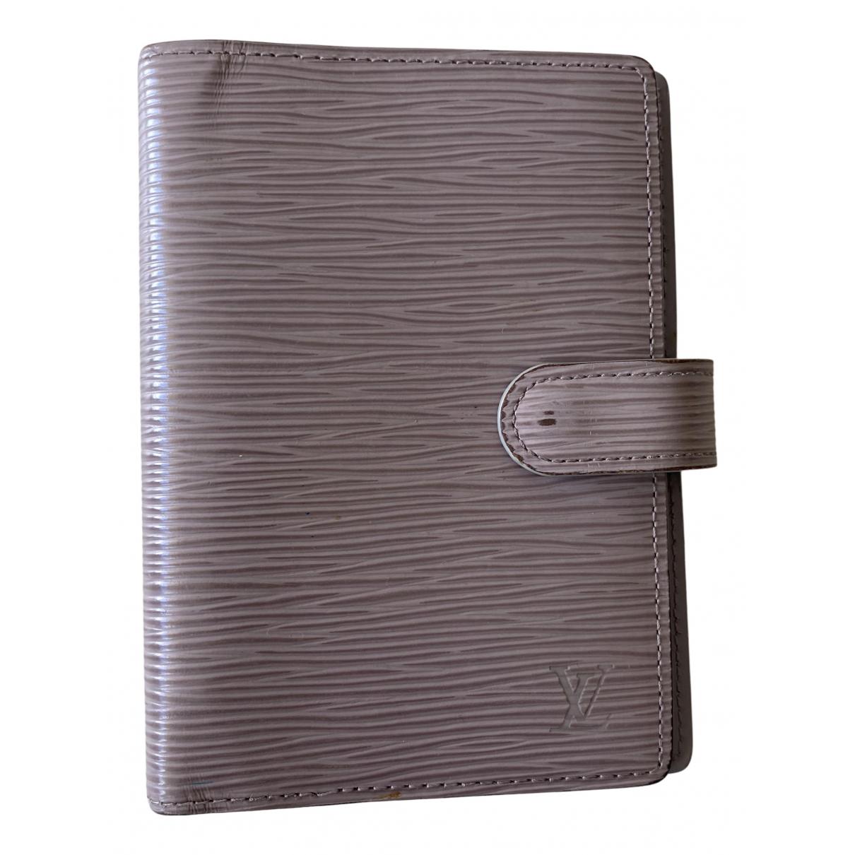Louis Vuitton - Objets & Deco Couverture dagenda PM pour lifestyle en cuir - gris