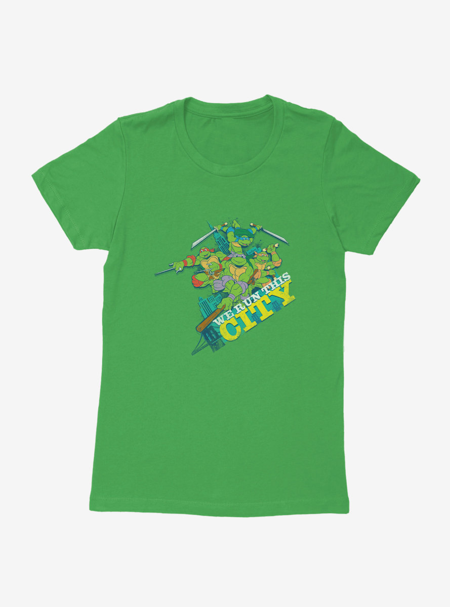 Teenage Mutant Ninja Turtles Group Pose We Run This City Womens T-Shirt