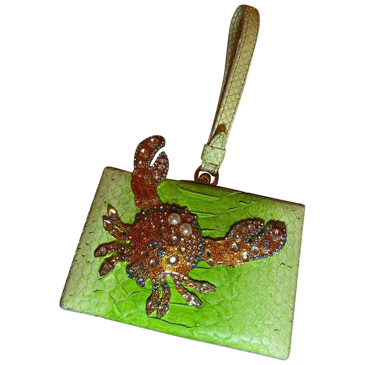 Dsquared2 - Pochette   pour femme en crocodile - vert