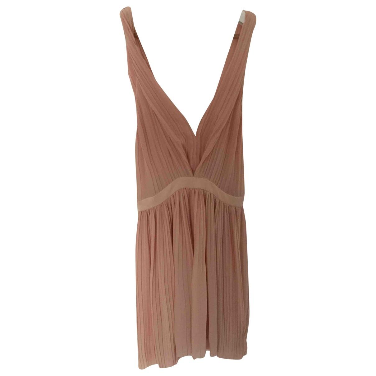 Maje \N Pink Cotton dress for Women 36 FR
