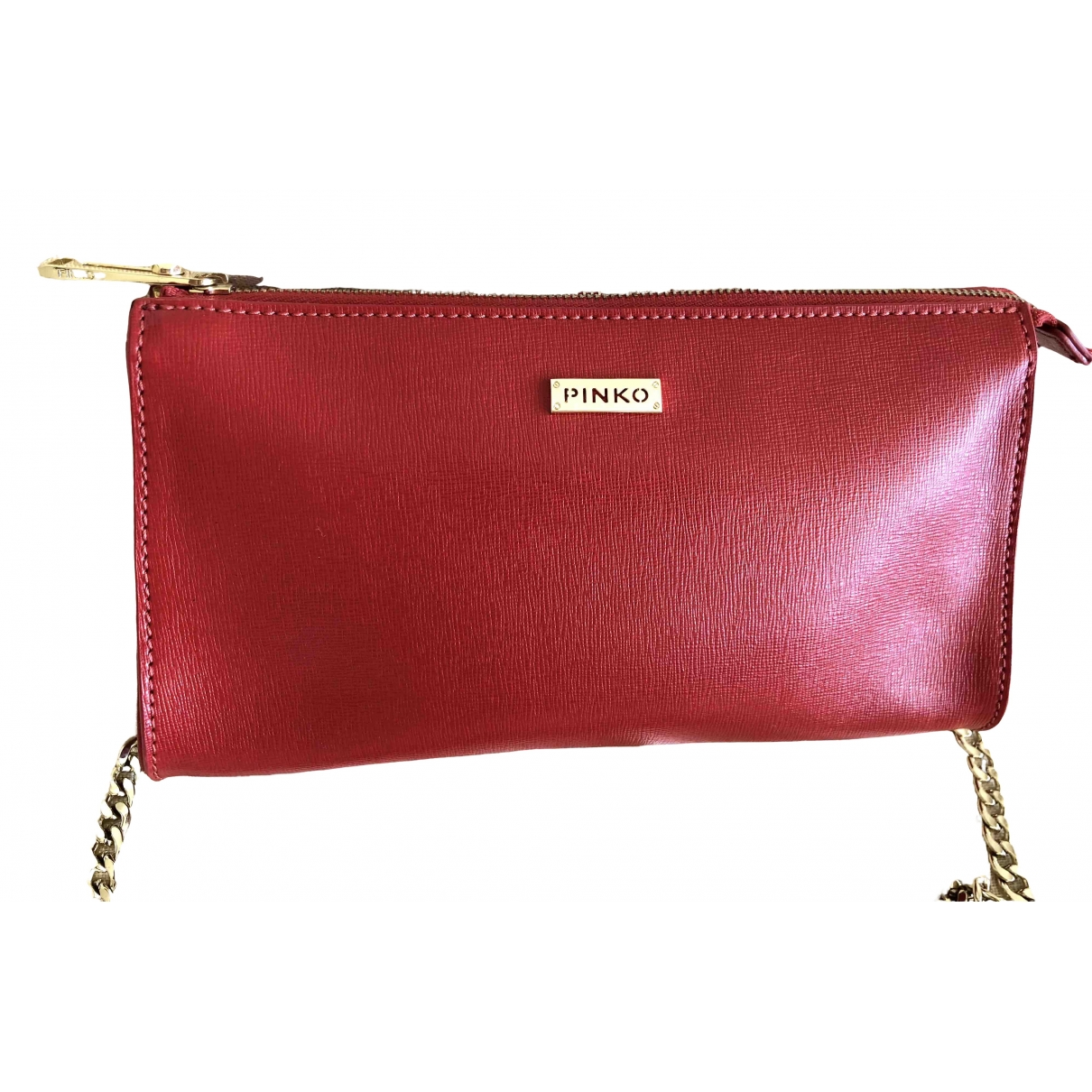 Pinko \N Clutch in  Rot Leder