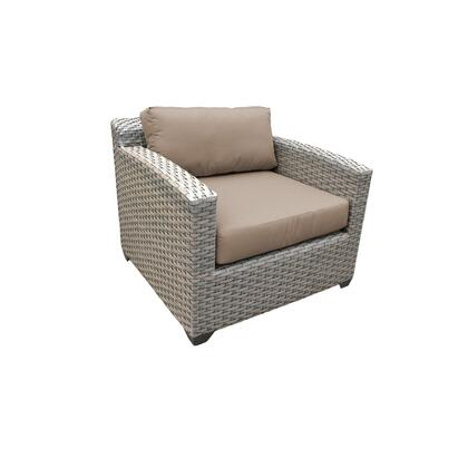 TKC055b-CC-WHEAT Florence Club Chair with 2 Covers: Grey and