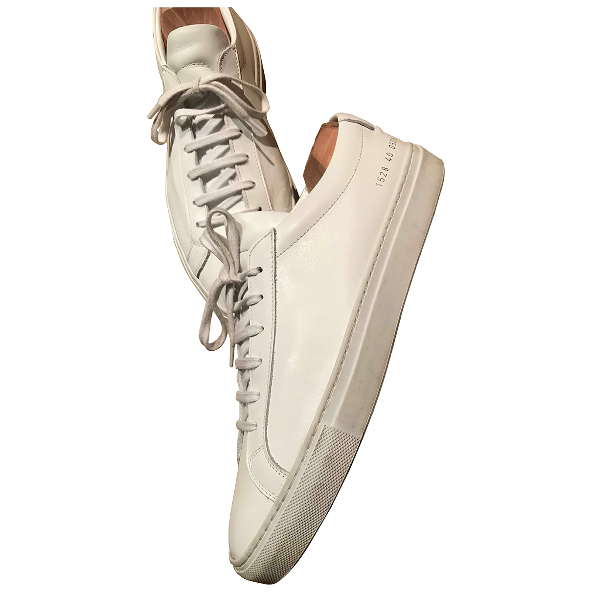 Common Projects \N White Leather Trainers for Men 40 EU