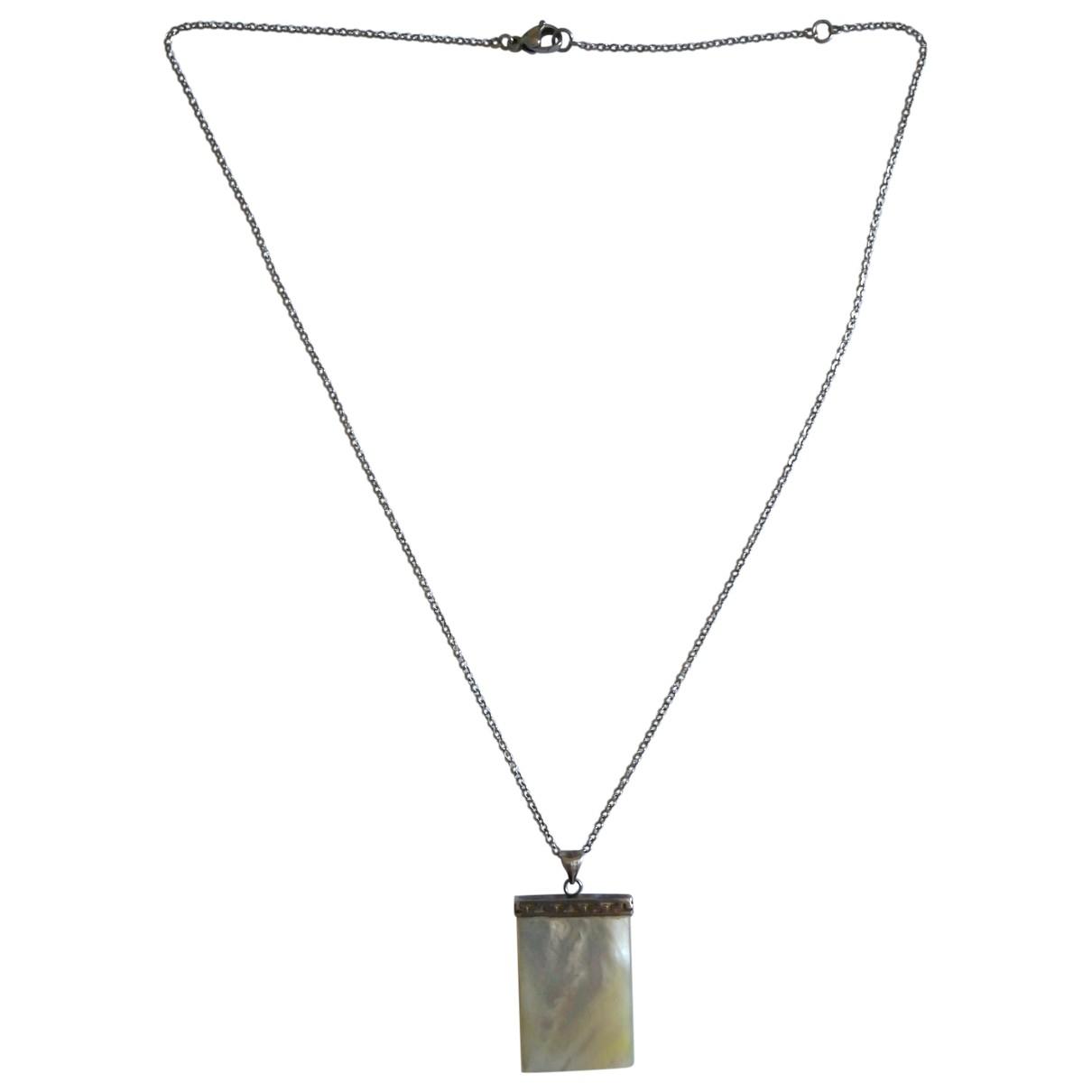 Non Signe / Unsigned Chaines Schmuckstuecke in  Weiss Silber