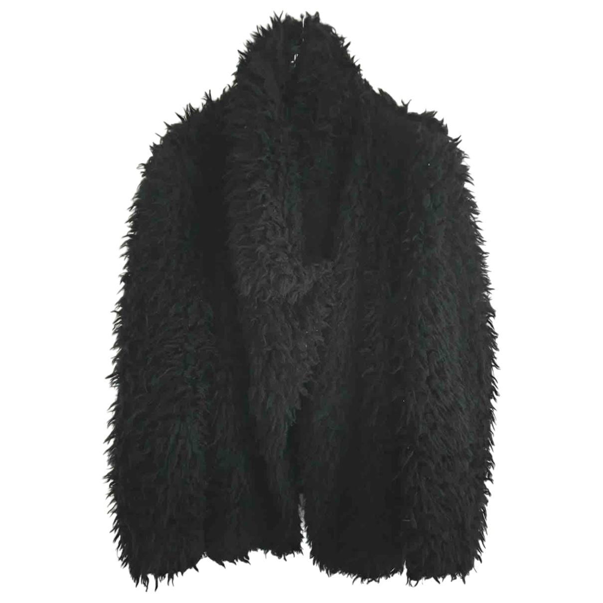 Liu.jo - Manteau   pour femme en fourrure synthetique - noir