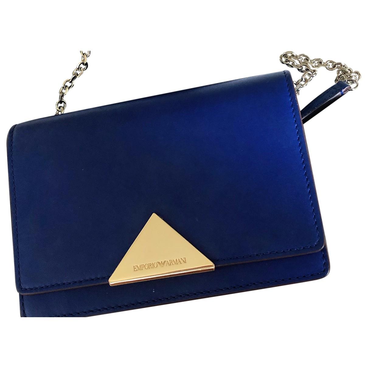Emporio Armani \N Handtasche in  Blau Leder