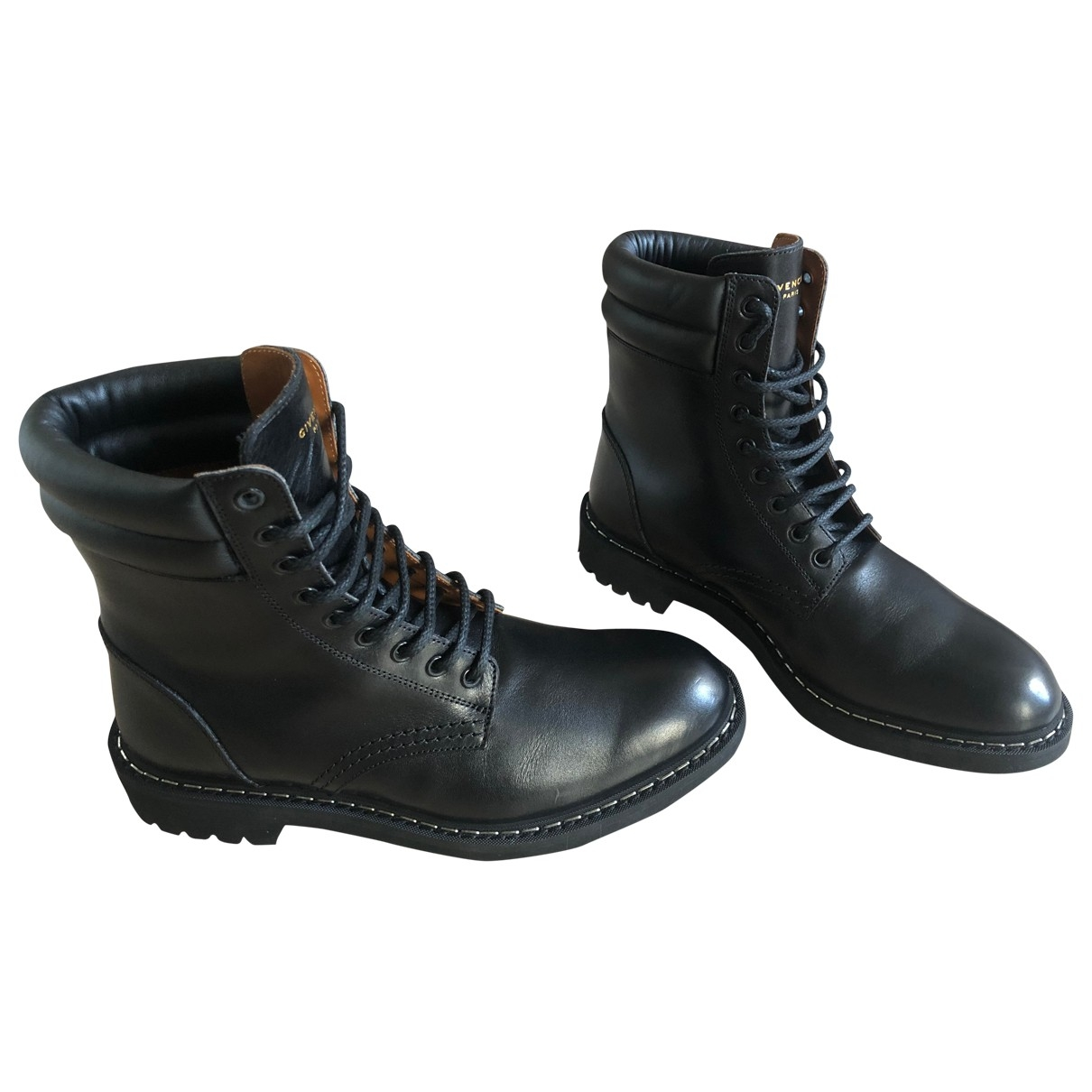 Givenchy \N Black Leather Boots for Men 40 EU