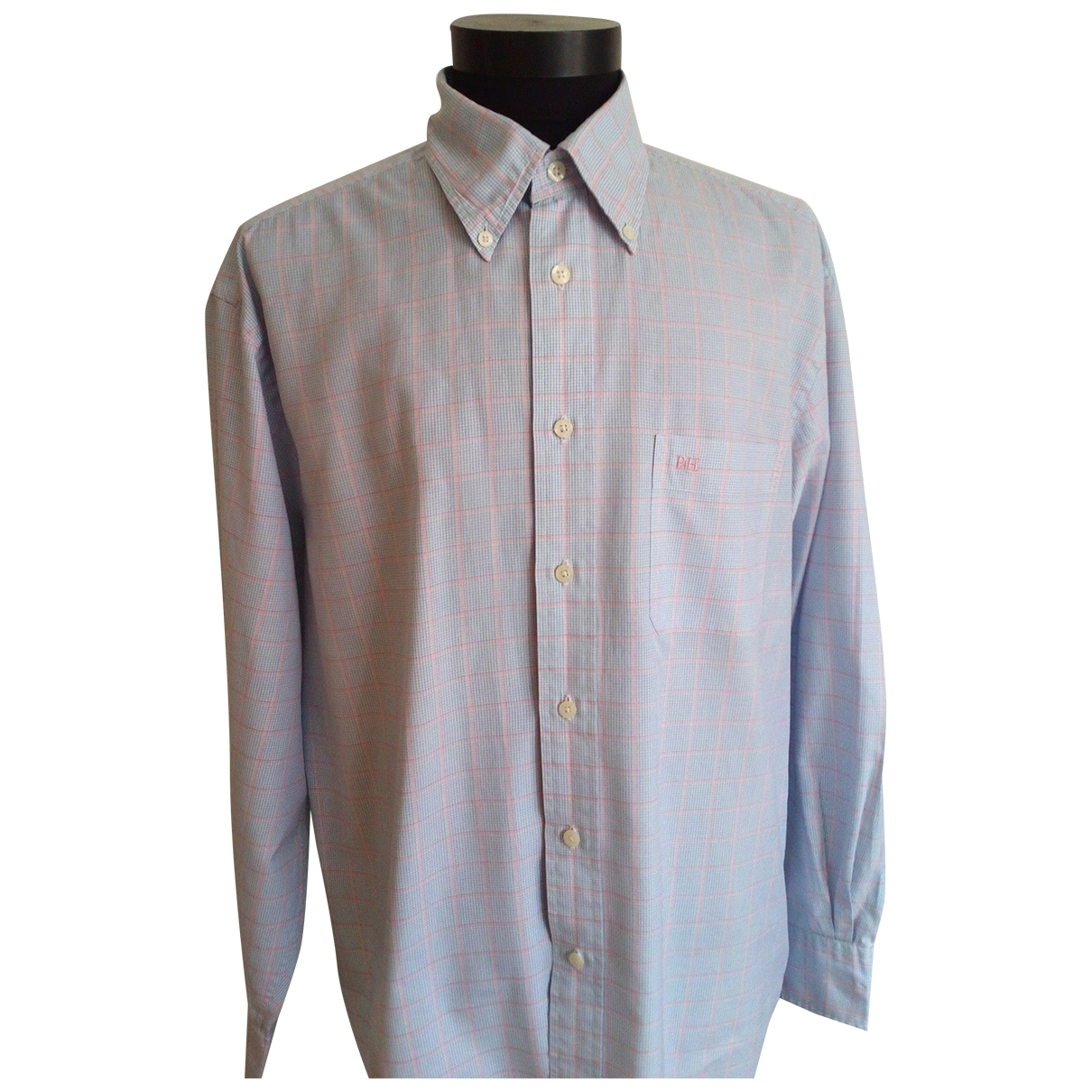 Pedro Del Hierro \N Blue Cotton Shirts for Men L International