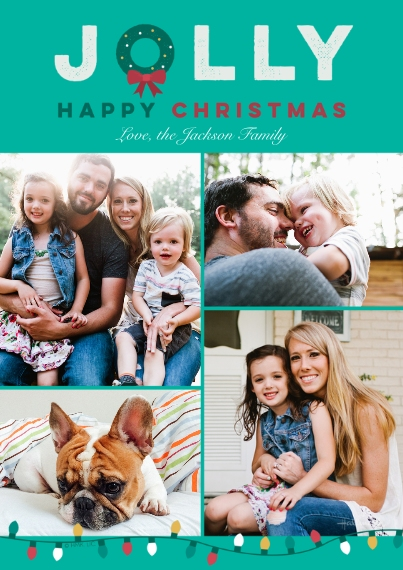 Christmas Photo Cards 5x7 Cards, Premium Cardstock 120lb, Card & Stationery -Jolly Wreath