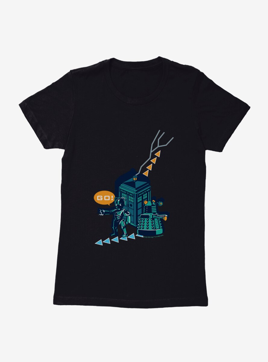 Doctor Who Dalek Go Video Game Womens T-Shirt