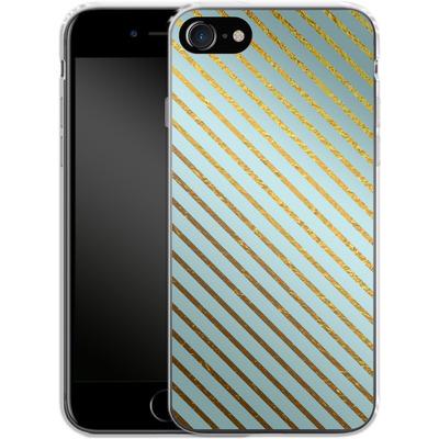 Apple iPhone 7 Silikon Handyhuelle - Gold Foil Stripe von Khristian Howell