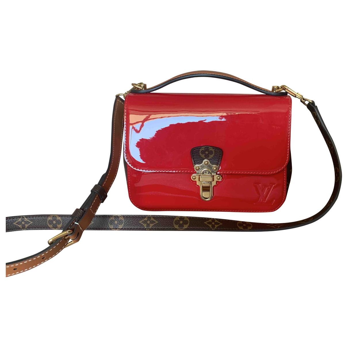 Louis Vuitton - Sac a main Cherrywood pour femme en cuir verni - rouge