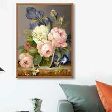 DIY Diamand Malerei mit Blumen Muster