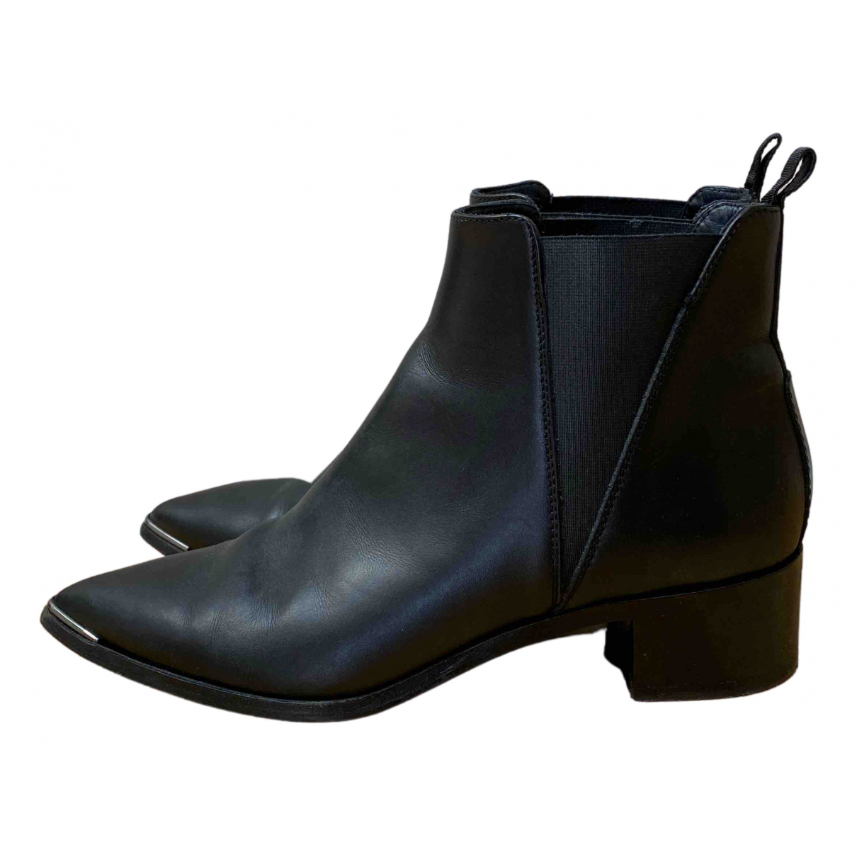 Acne Studios Jensen / Jenny Black Leather Ankle boots for Women 39 EU