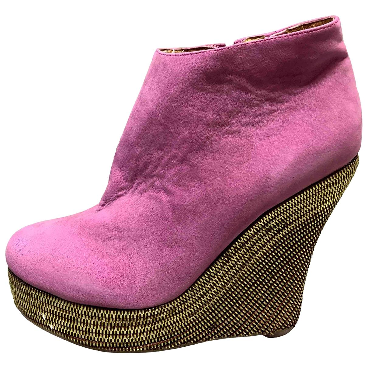Jeffrey Campbell - Boots   pour femme en cuir - violet