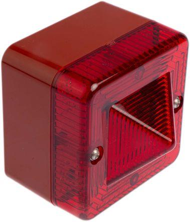 e2s L101X Red Xenon Beacon, 24 V ac/dc, Flashing, Surface Mount