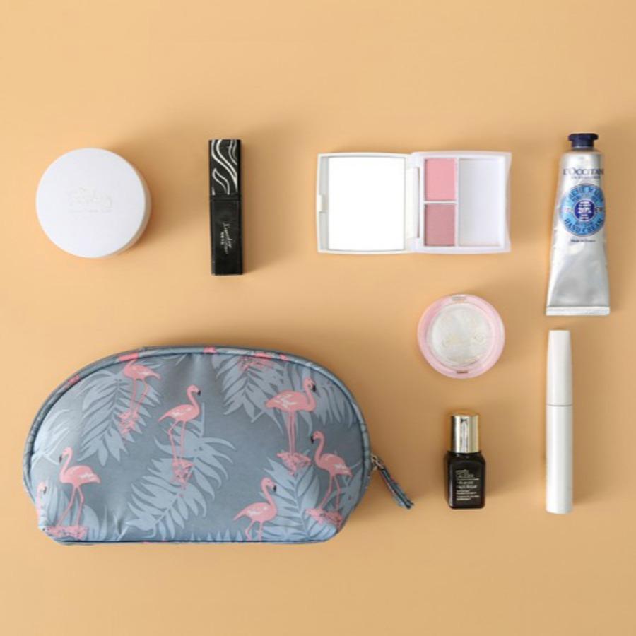 LW lovely Trendy Print Grey Makeup Bag