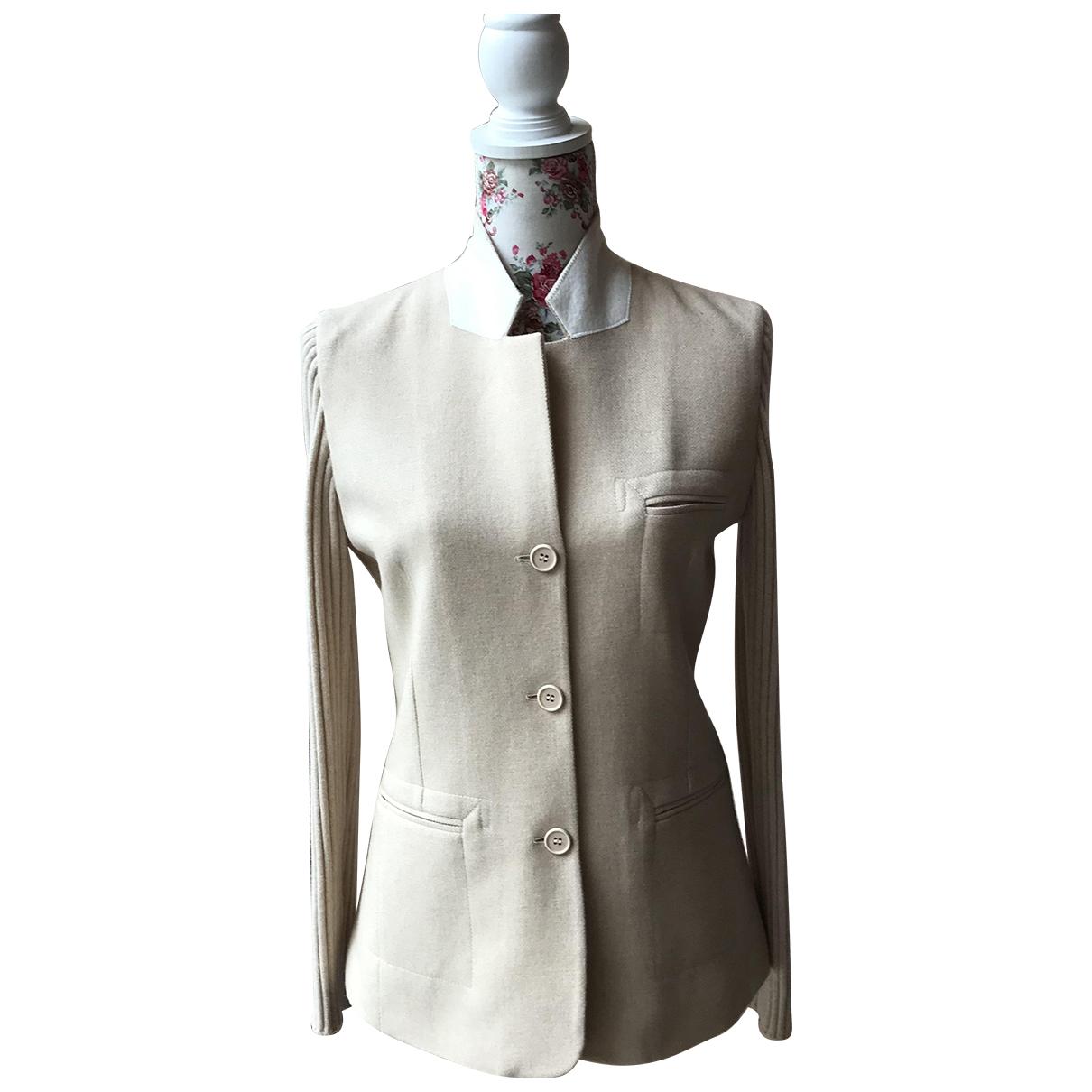 Brunello Cucinelli - Veste   pour femme en laine - beige