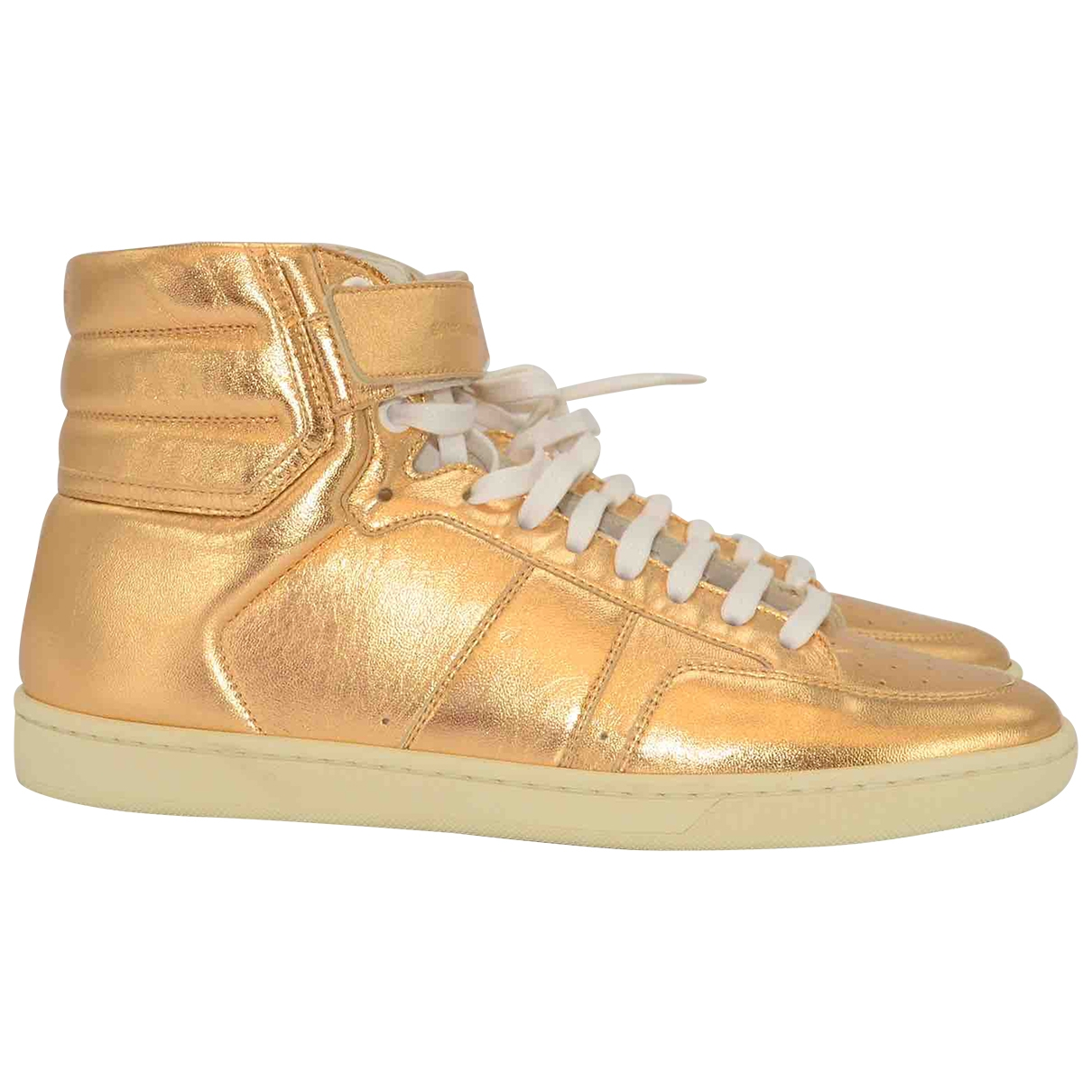 Saint Laurent \N Sneakers in  Gold Leder