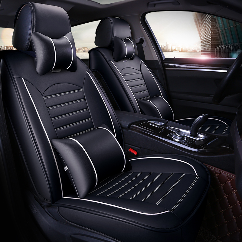 Extravagant Durable Wrinkle-free Comfortable Leather Universal Car Seat Covers