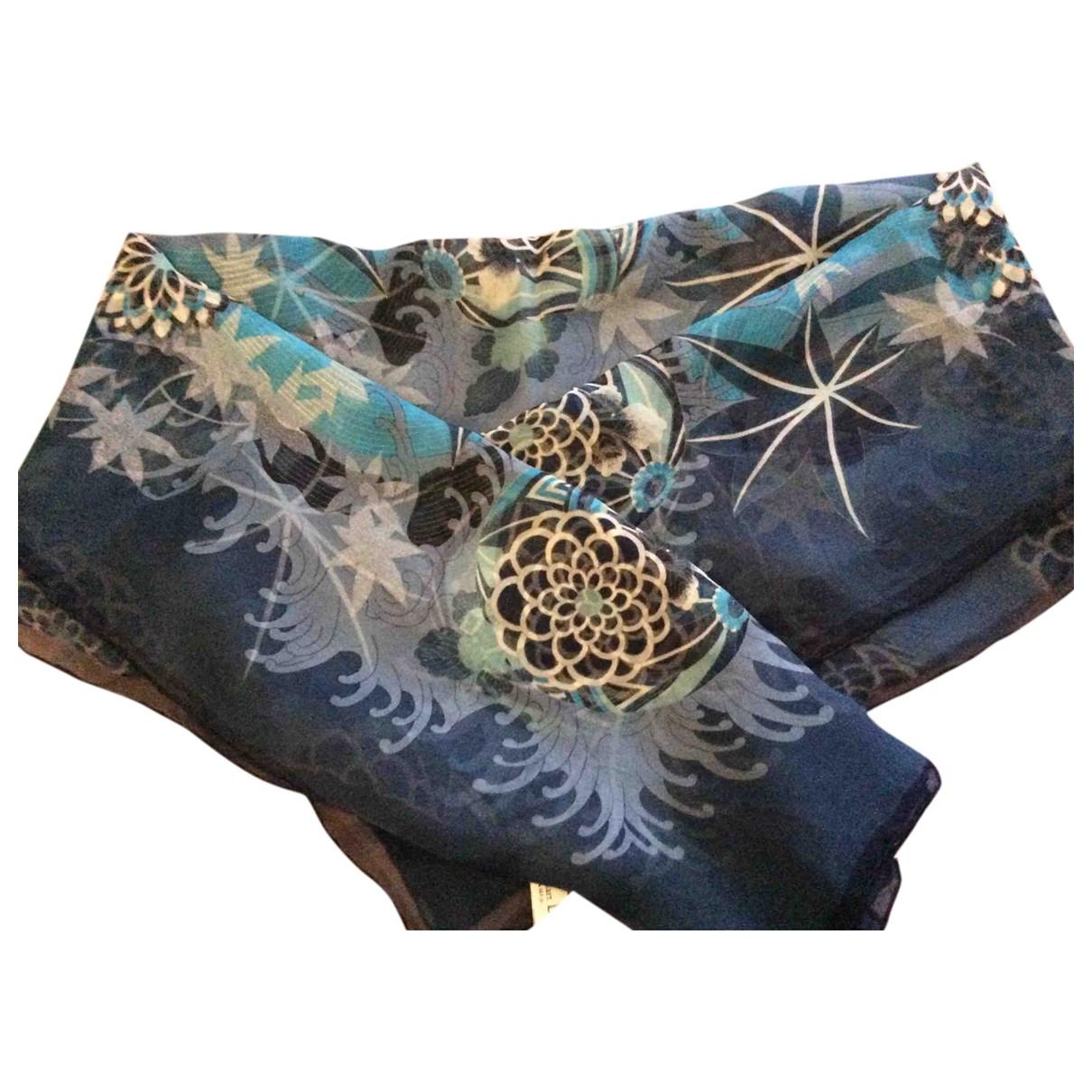 Dior \N Blue Silk Silk handkerchief for Women \N