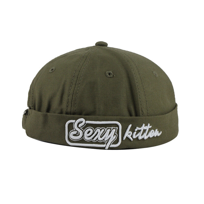 Japanese Street Retro Landlord Hat Port Wind High Cold Melon Leather Hat Dome Hip Hop Yuppie Hat Men And Women Trendy