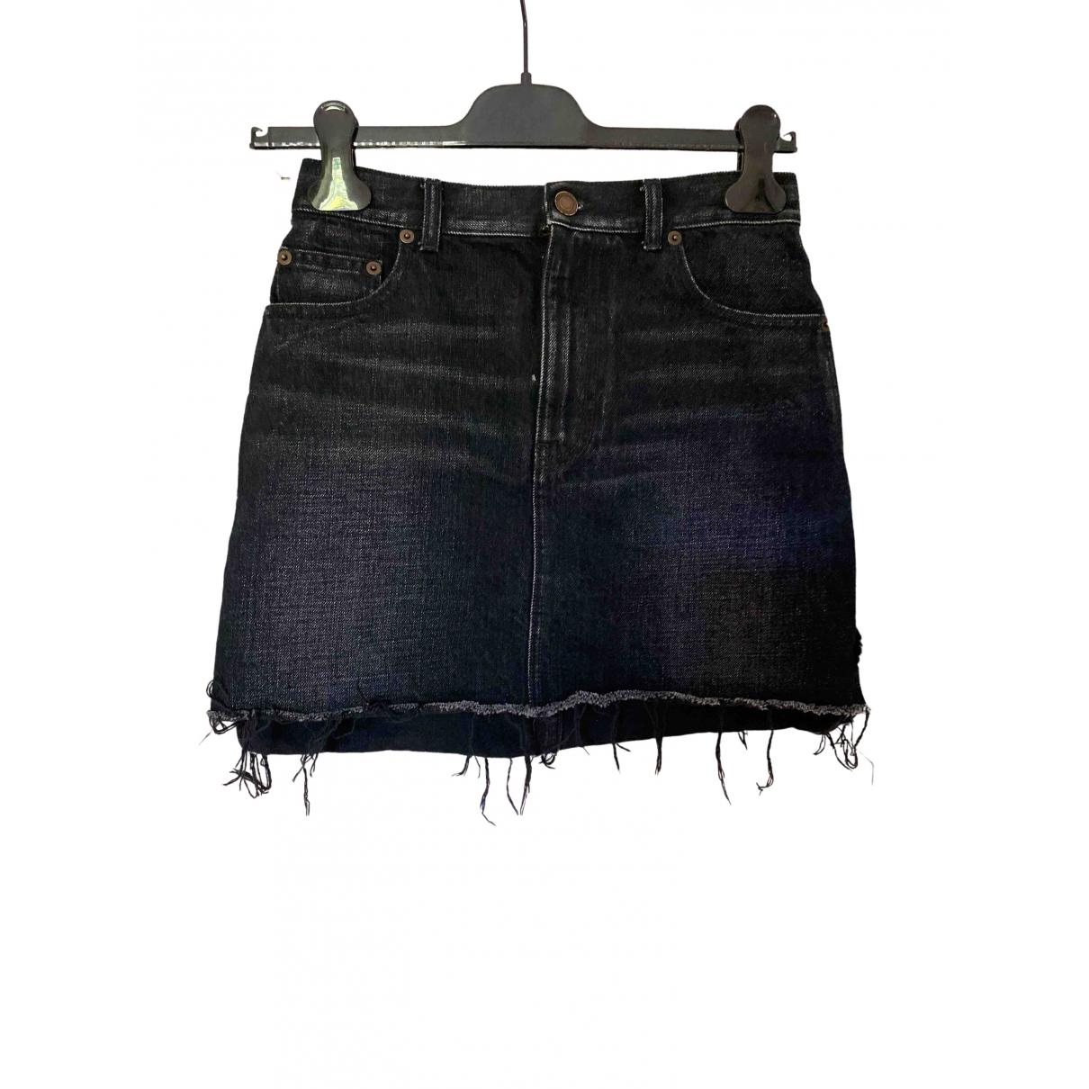 Saint Laurent \N Rocke in  Schwarz Denim - Jeans