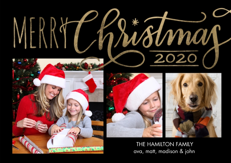 Christmas Photo Cards Flat Glossy Photo Paper Cards with Envelopes, 5x7, Card & Stationery -Christmas 2020 Red Merry Memories by Tumbalina