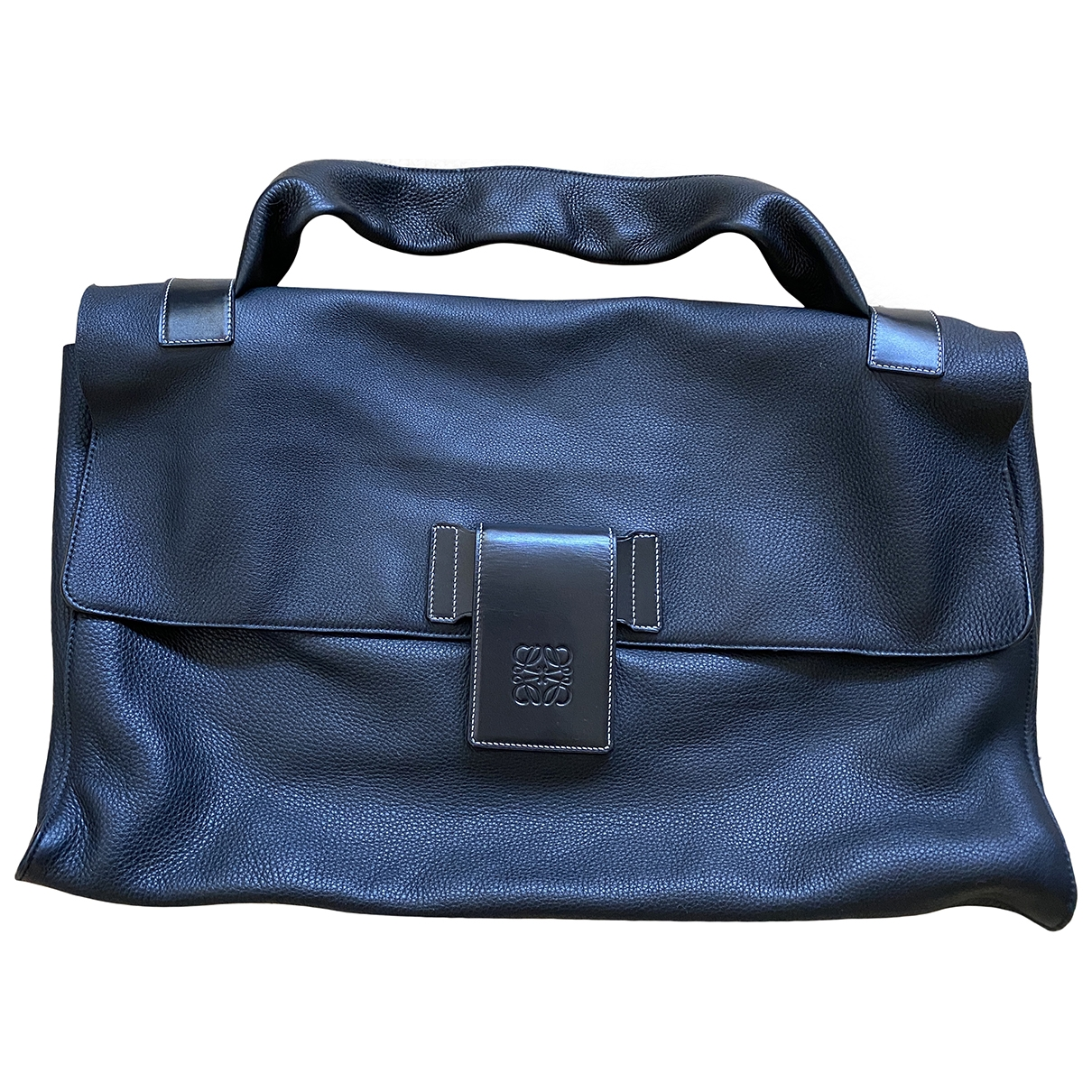 Loewe \N Black Leather handbag for Women \N