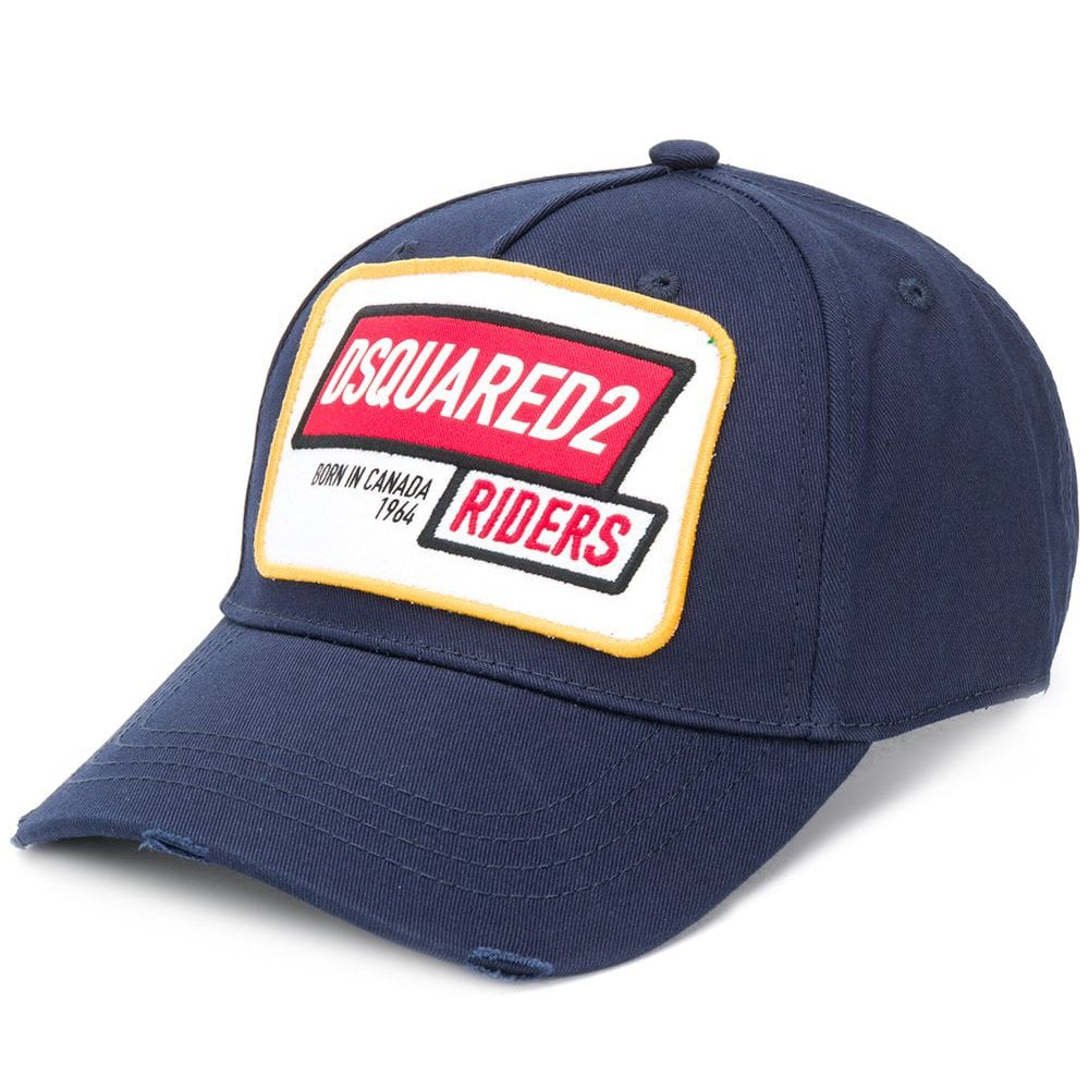 DSquared2 'Riders' Logo Cap Navy Colour: NAVY, Size: ONE SIZE