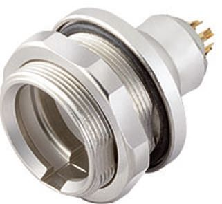 Binder Connector, 3 contacts Panel Mount M12 Plug, Solder IP67