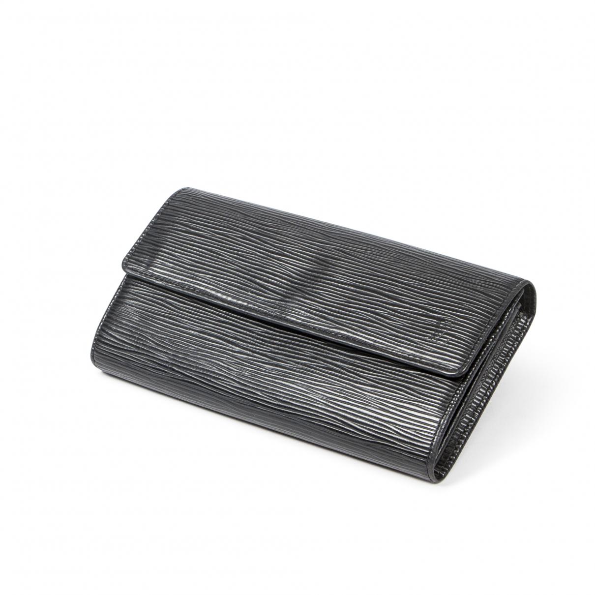 Louis Vuitton - Portefeuille Sarah pour femme en cuir - noir