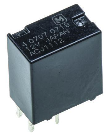 Panasonic , 12V dc Coil Automotive Relay SPDT PCB Mount