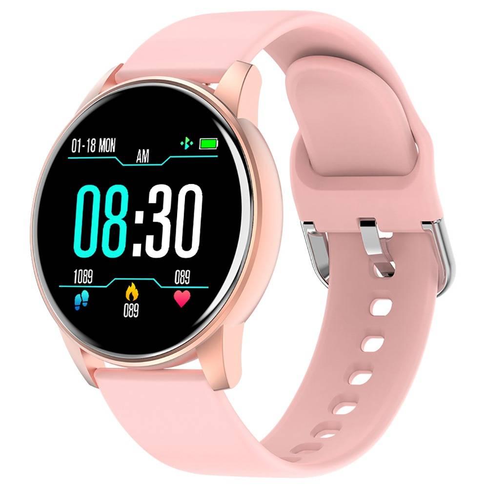 Makibes ZL01 SmartWatch 1.3 Inch IPS HD Screen IP67 Waterproof Bluetooth 4.0 Heart Rate Blood Pressure Monitor - Pink