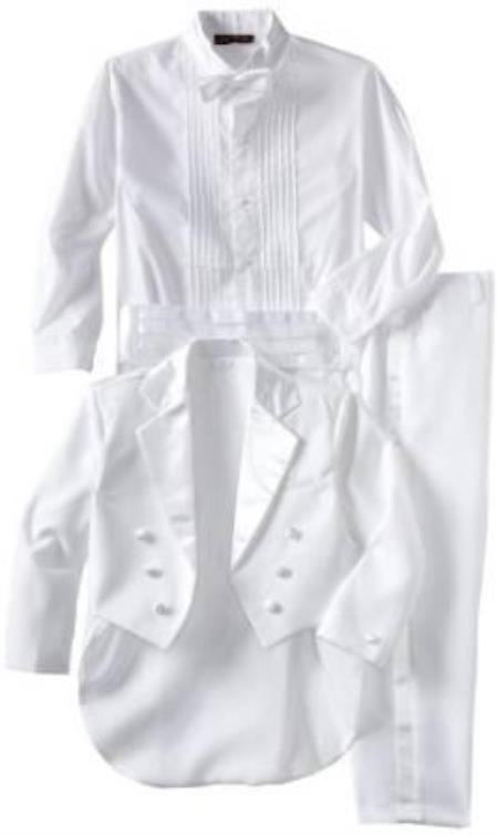 Womens Double Breasted Peak Lapel White Tuxedo
