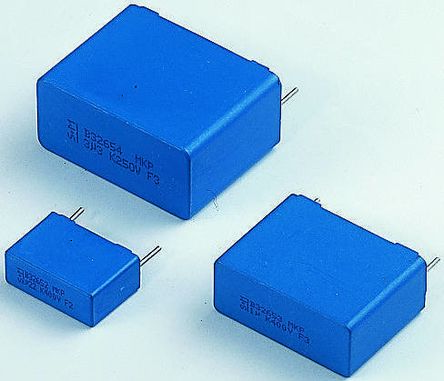EPCOS 22nF Polypropylene Capacitor PP 1.6 kV dc, 500 V ac ±10% Tolerance Through Hole B32653 Series