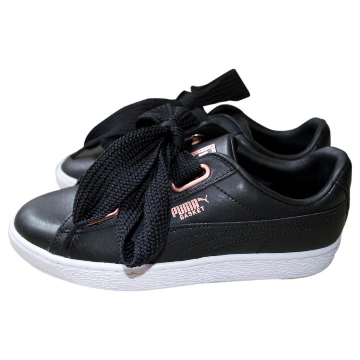 Puma - Baskets   pour femme en cuir - noir