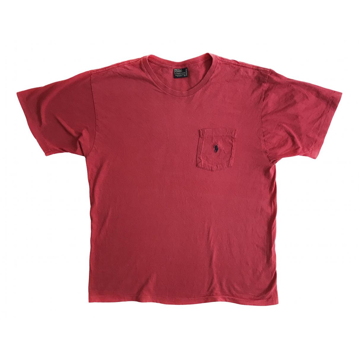 Polo Ralph Lauren \N Pink Cotton T-shirts for Men M International