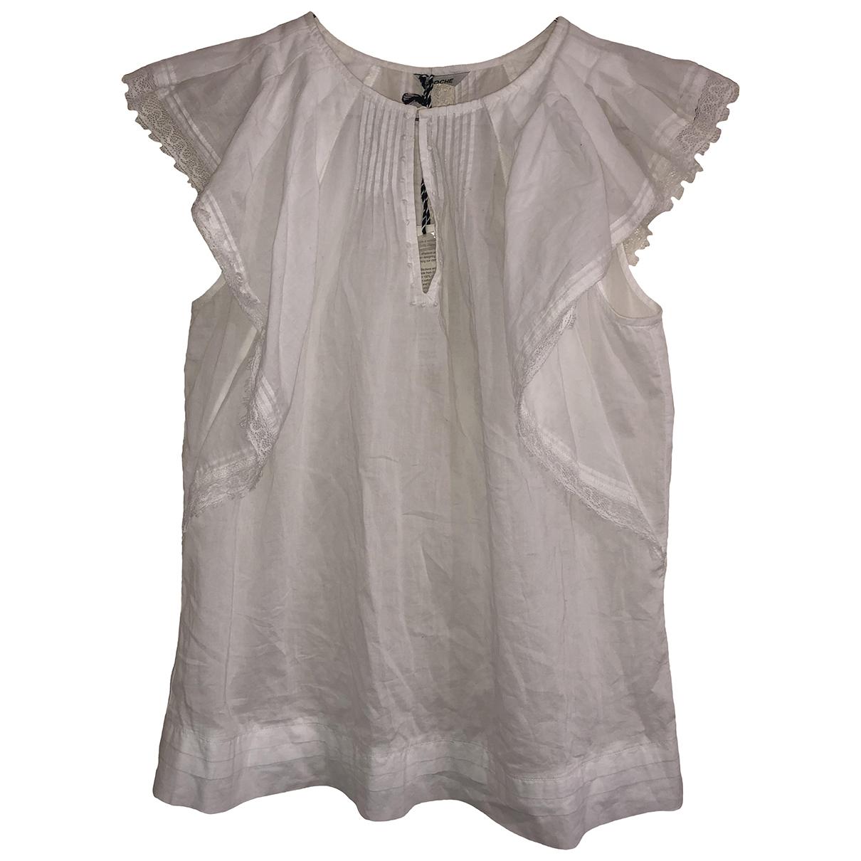 St. Roche - Top   pour femme en coton - blanc