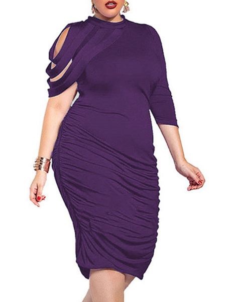 Milanoo Charming Deep V Neck Woman Clothing Plus Size Party Evening Jumpsuit With Cape