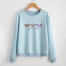 Butterfly Print Sweatshirt