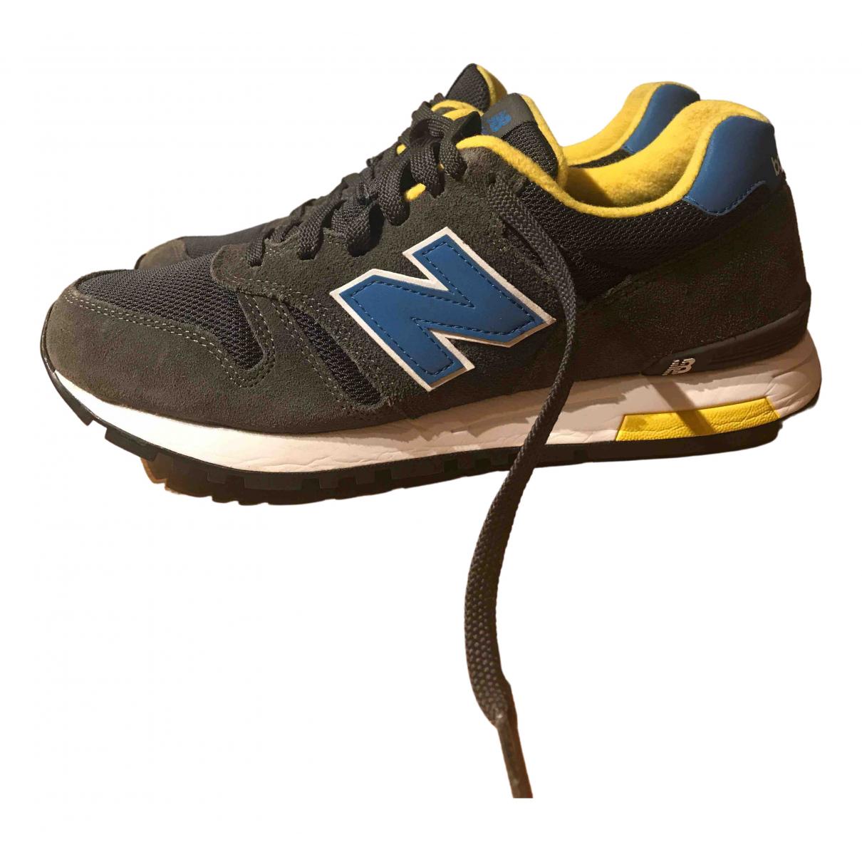 New Balance - Baskets   pour homme en cuir - anthracite