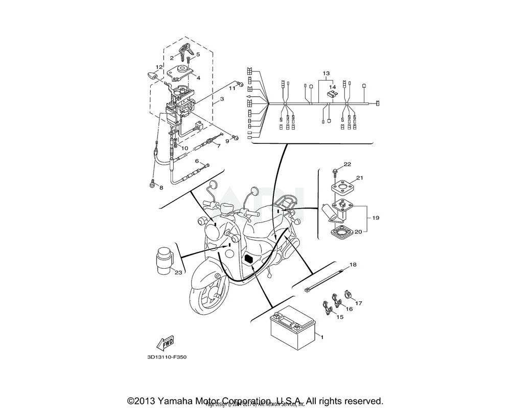 Yamaha OEM 5SU-F836X-00-00 KNOB, 1