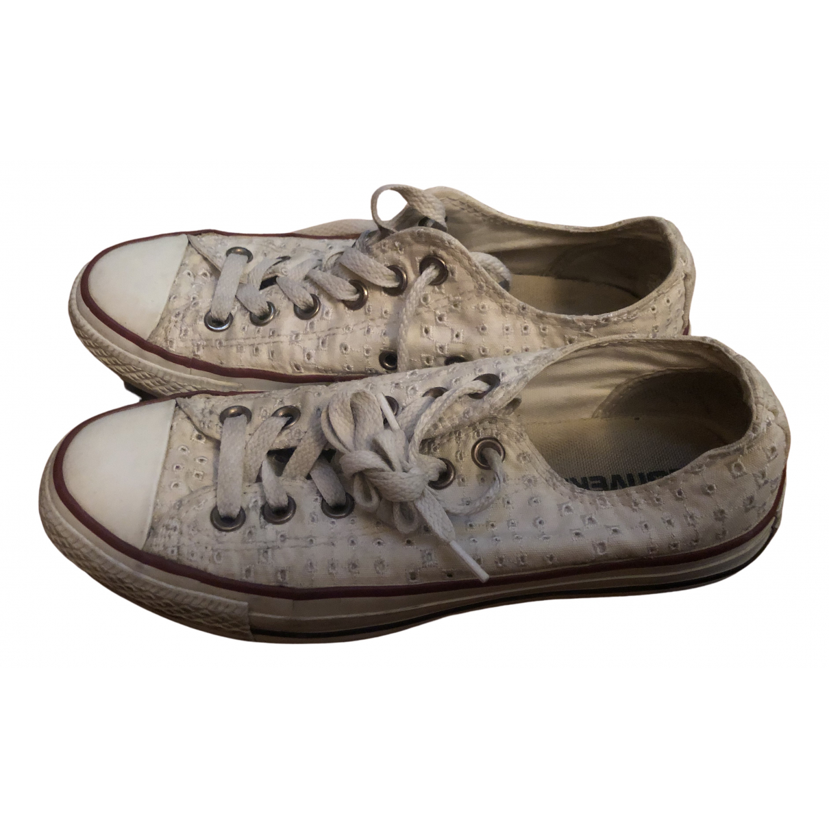 Converse N White Cloth Trainers for Women 38 EU