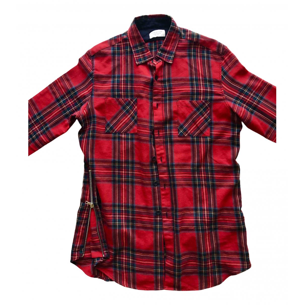 Fear Of God - Chemises   pour homme en coton - rouge