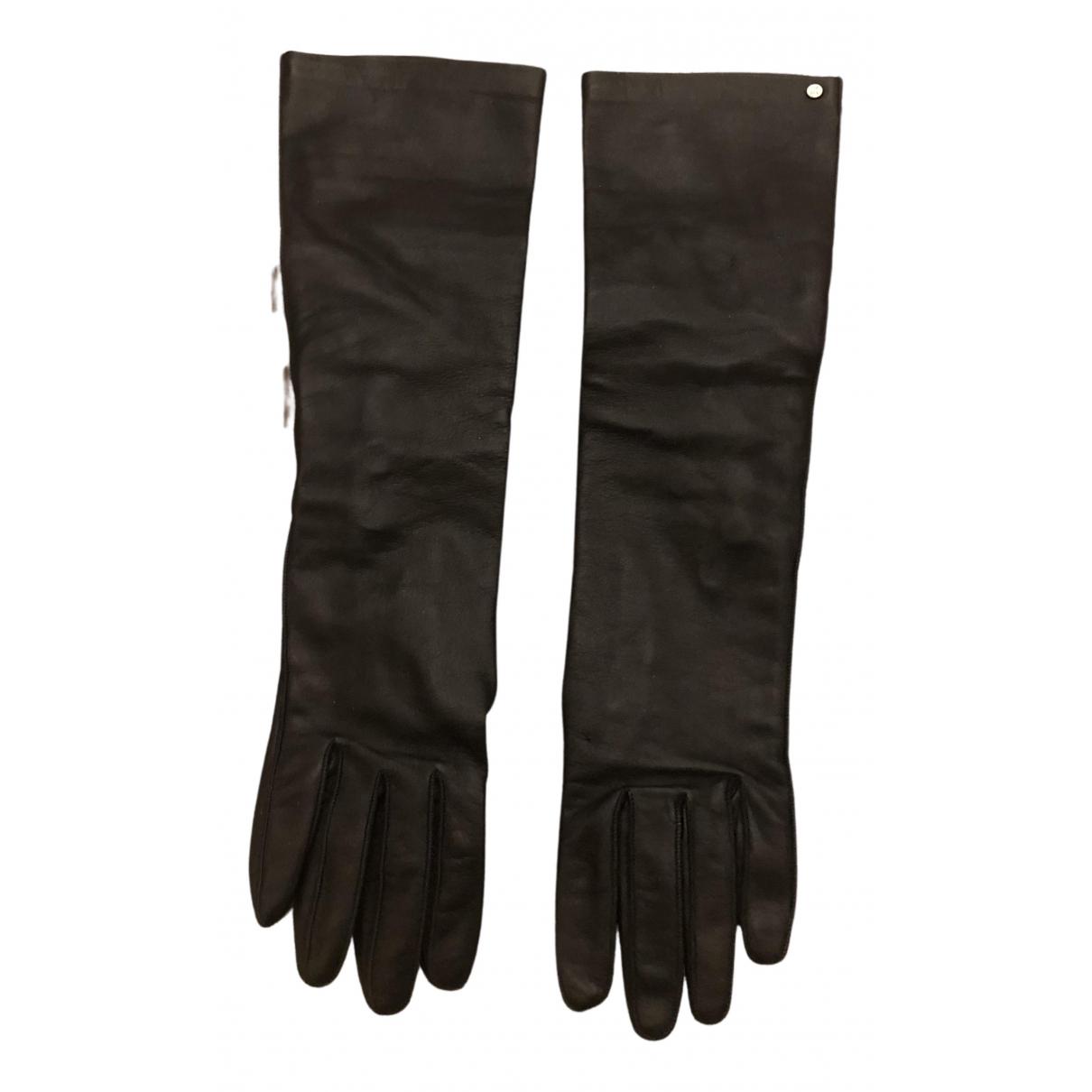 Louis Vuitton \N Handschuhe in  Schwarz Leder